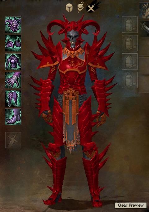 Guild Wars 2 Armor - Human - Male - Karma - Heavy