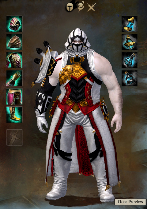 how to look at character info in guild wars